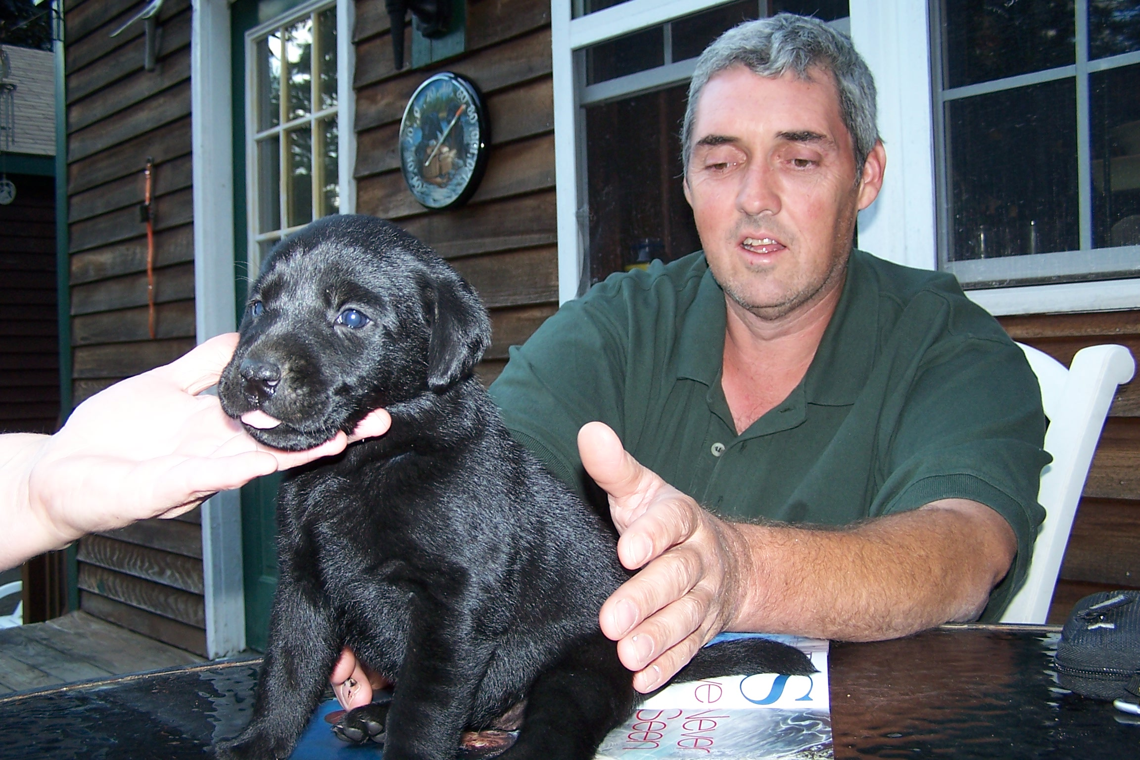 New owner David with Black Male